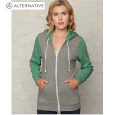 Alternative 6.4oz.Color-Blocked Full-Zip Hoodie