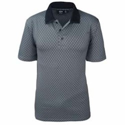 AKWA | AKWA MADE IN USA Diamond Jacquard Polo