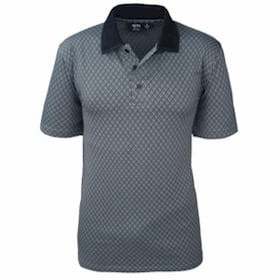 AKWA MADE IN USA Diamond Jacquard Polo