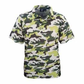AKWA MADE IN USA Camouflage Print Polo
