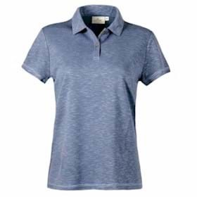 AKWA LADIES' Made in U.S.A. Slub Polo