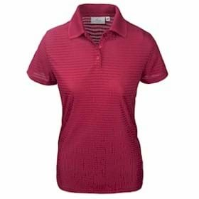 AKWA LADIES' Made in USA Drop Needle Check Polo
