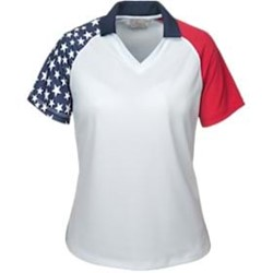 AKWA | AKWA LADIES' MADE IN USA Patriotic Polo
