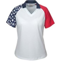 AKWA | LADIES' MADE IN USA Patriotic Polo