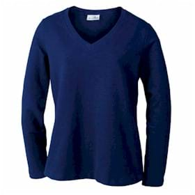 AKWA LADIES' Made in U.S.A. V-Neck Pullover