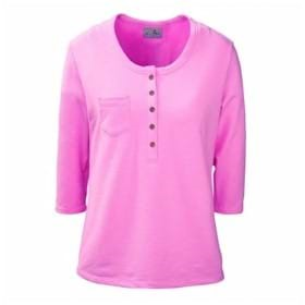 AKWA LADIES' Made in U.S.A. Henley