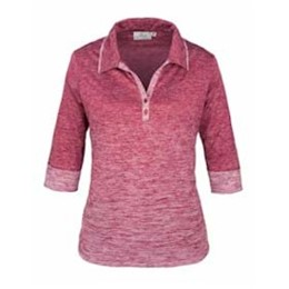AKWA | AKWA LADIES' Made in the U.S.A 3/4 Sleeve Polo