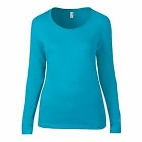 ANVIL LADIES' L/S Sheer Featherweight T-Shirt