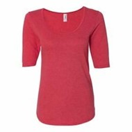 Anvil | ANVIL LADIES' Deep Scoop Half-Sleeve T-Shirt