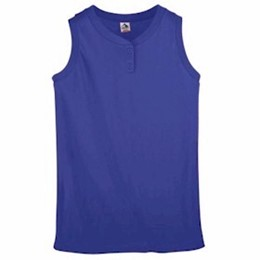 Augusta | Augusta Girls' Sleeveless Two-Button Jersey