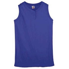 Augusta Girls' Sleeveless Two-Button Jersey