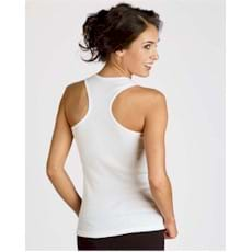 Bella Cotton 2x1 Rib Racerback Longer Length