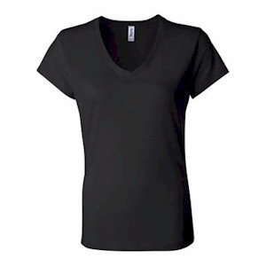 Bella Women's 5 oz. Cotton S/S V-Neck T-Shirt