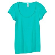 Bella | Bella Sheer Rib Cap Sleeve Deep V-Neck T-Shirt