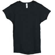 Bella | Bella Girls Cotton S/S Baby Rib Crew Neck T-Shirt