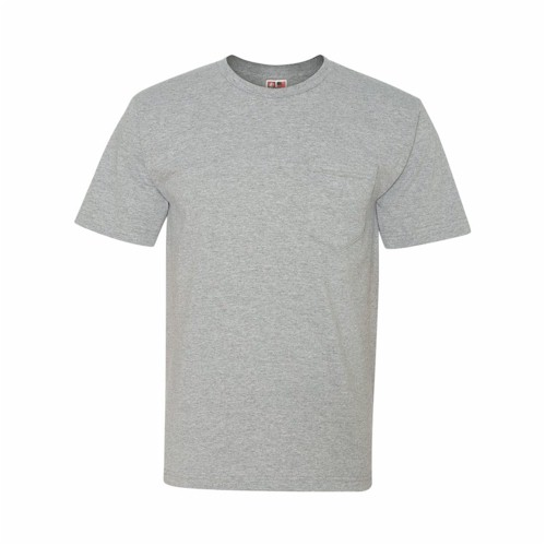 Bayside USA Made T-Shirt with a Pocket