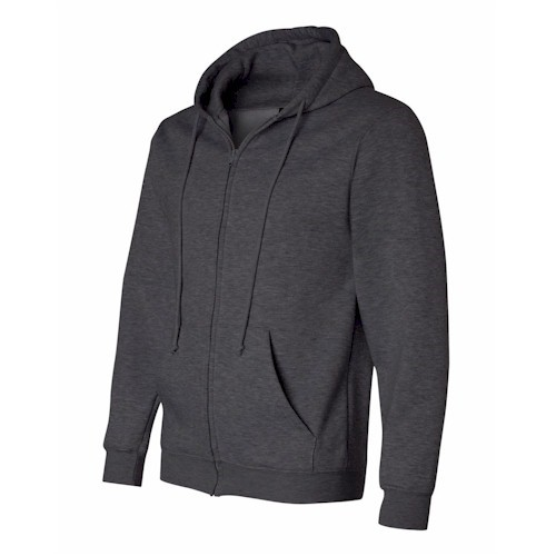 Bayside USA-Made Full Zip Hooded Sweatshirt