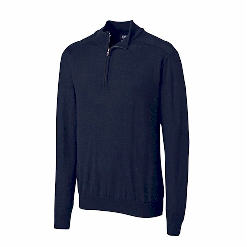 Cutter & Buck TALL L/S Douglas 1/2 Zip Mock
