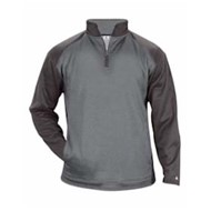 Badger | Badger Sport Heather Tonal Fleece 1/4 Zip Pullover