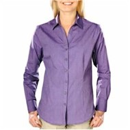 Blue Generation | Blue Generation LADIES' Heathered Crossweave Shirt