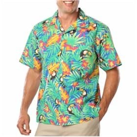 Blue Generation Tucan Print Camp Shirt