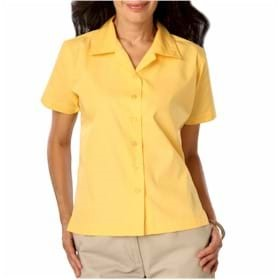 Blue Generation LADIES' Poplin Camp Shirt