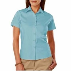Blue Generation | Blue Generation LADIES' S/S Stretch Poplin Blouse