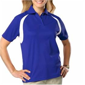 Blue Generation LADIES' Raglan Wicking Polo