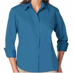 Blue Generation | Blue Generation LADIES' 3/4 Sleeve Poplin