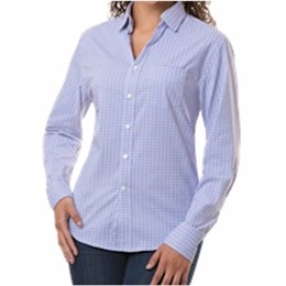 Blue Generation | BG Ladies L/S Blue/Plum Tricolor Plaid