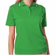 Blue Generation | BLUE GENERATION LADIES' Striped Trim Wicking Polo