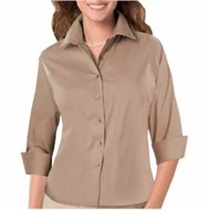 Blue Generation | LADIES' 3/4 Sleeve Twill Shirt