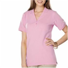 Blue Generation LADIES' S/S Y-Placket Polo
