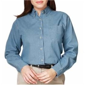 L/S BG Ladies Denim w/Pocket