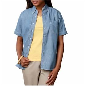 BG Ladies S/S Denim w/Pocket
