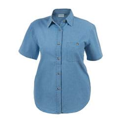 Blue Pointe Ladies S/S Denim Shirt