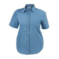 Blue Pointe | Blue Pointe Ladies S/S Denim Shirt
