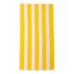 Carmel | Carmel Cabana Stripe Velour Beach Towel