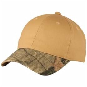 Port Authority Twill Cap with Camouflage Brim