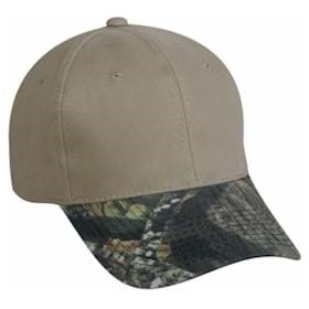 Outdoor Cap Brushed Twill Camo Visor
