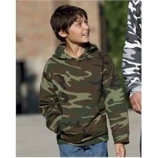 Code V YOUTH Camo Hooded Pullover