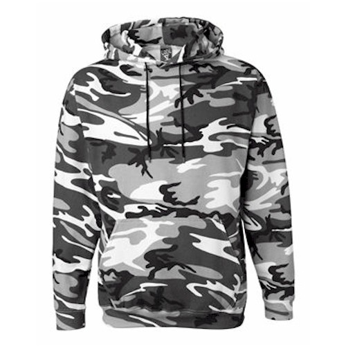 Code V Camo Hooded Pullover