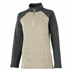 Charles River | Ladies Colorblock Heather1/4 Zip