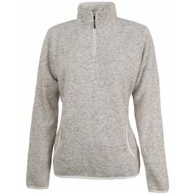 Charles River LADIES' Heathered Fleece Pullover