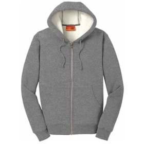 CornerStone Sherpa-Lined Hooded Fleece Jacket
