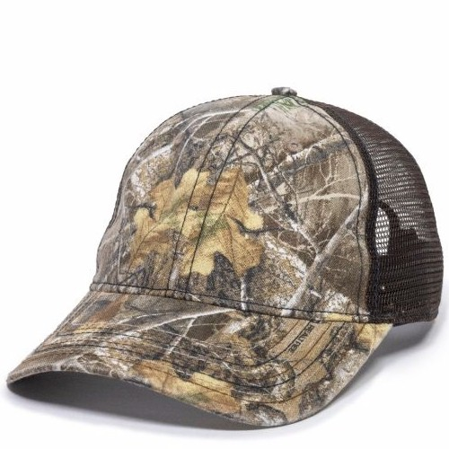 Outdoor Camo Unstructured Cap