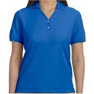 Devon & Jones | D&J LADIES' Pima Pique Y Collar Polo