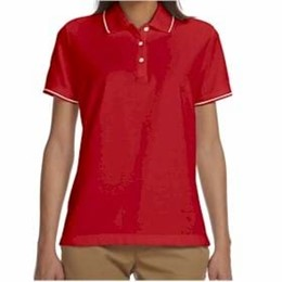 Devon & Jones | Devon & Jones LADIES' Pima Pique Tipped Polo
