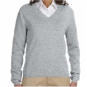 Devon & Jones Classic Women's V-Neck Sweater