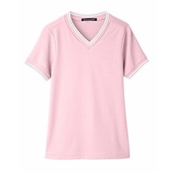 Devon & Jones | D&J Ladies'  Plaited Tipped V-Neck Polo